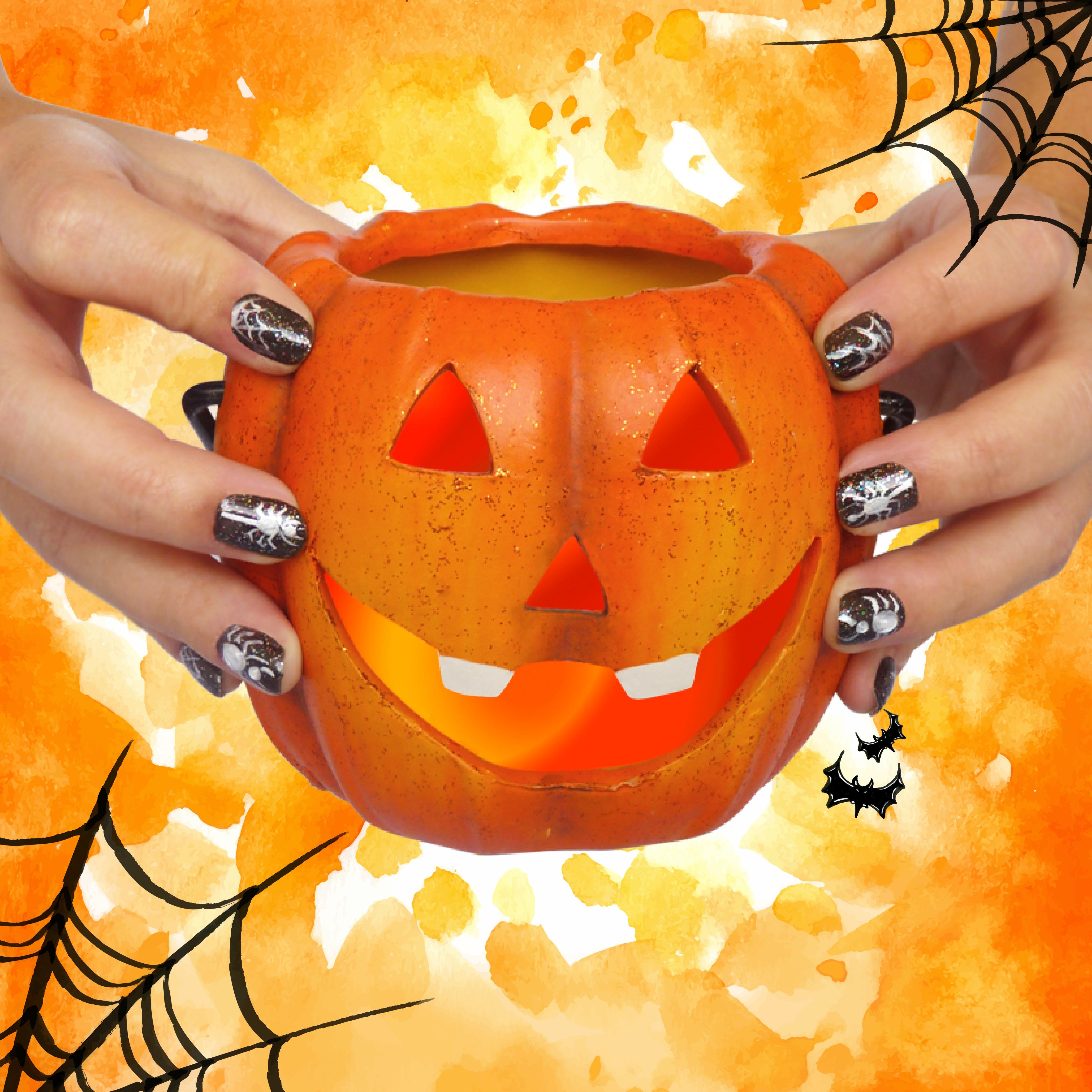 Manicura arañas halloween